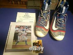 Eloy Jimenez Game Used Signed cleats (2016) Rare! Great condition 100% legit