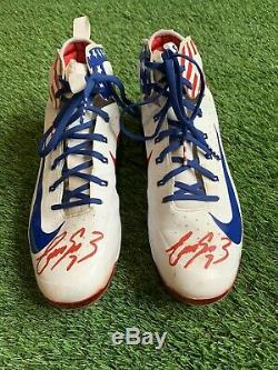 Eugenio Suarez Cincinnati Reds Game Used Cleats July 4th Signed MLB Auth