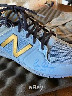 Evan Longoria Signed Game Used Cleat Inscribed GU 2017 MLB Rays Authenticated