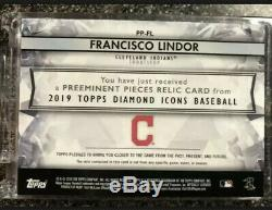 FRANCISCO LINDOR 2019 Topps Diamond Icons GAME USED CLEAT RELIC 8/10