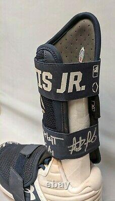 Fernando Tatis Jr 2019 Game Used Signed Cleats & Shin Guard + Hand Signed LOA