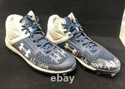Fernando Tatis Jr 2019 RC Game Used Signed Autographed Cleats + Hand Signed LOA