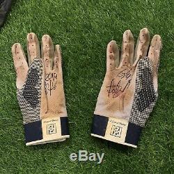 Fernando Tatis Jr San Diego Padres Game Used Batting Gloves Tatis LOA Signed