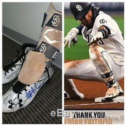 Fernando Tatis Jr San Diego Padres Game Used Cleats Shin Guard Signed PM LOA