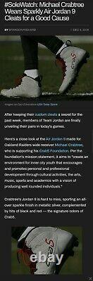 Former RAIDERS Wide Receiver MICHAEL CRABTREE Game worn custom Jordan cleats