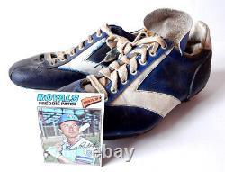 Freddie Patek #2 Game Used Vintage Baseball Cleats KC Royals