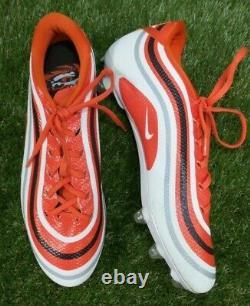 Game Used Jarvis Landry Nike Carbon V Propulsion Size 12.5 Orange 22590-752124