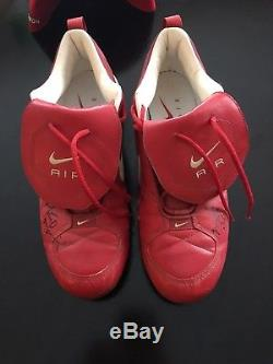 Game-Used Matt Morris Nike Cleats Signed TWICE! St. Louis Cardinals