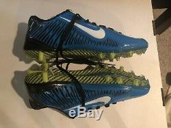 Game Used Worn Cleats Fozzy Whittaker Signed Carolina Panthers