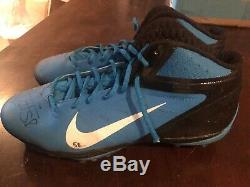Game Used Worn Cleats Thomas Davis Signed Carolina Panthers Chargers