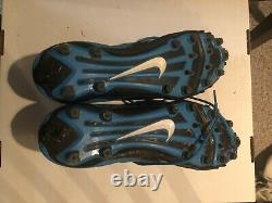 Game Used Worn Cleats Vernon Butler Signed Carolina Panthers
