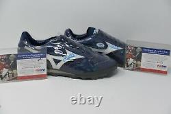 Gary Sheffield Game Used Dual Signed Mizuno Cleats Psa Certificate