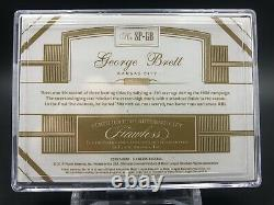 George Brett Flawless GAME USED spikes/cleats Jersey #5/9! Encased