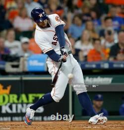 George Springer 2019 Astros Game Used Worn Custom Nike Cleats AUTO MLB Auth MVP