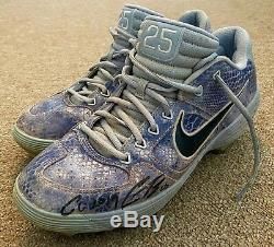 Gleyber Torres MLB Holo Fanatics Game Used Autographed Cleats 2019 NY Yankees