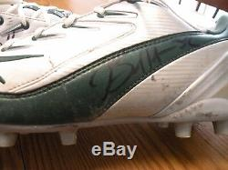 Green Bay Packers #32 RB Brandon Jackson Game Used Autograped Reebok Cleats