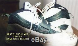 Green Bay Packers Mike Flanagan Game Used Nike Cleats-Autographed