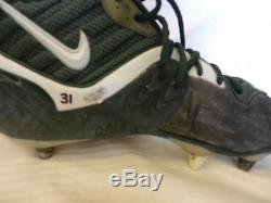 Green Bay Packers Nike Spikes Cleats Signed by #31 Al Harris Game Used
