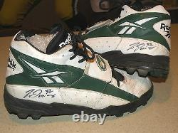Green Bay Packers Travis Jervey Game Used Reebok Cleats-Auto