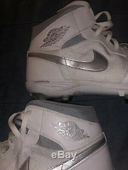 Greg Robinson Game Used Worn Nike Air Jordan Cleats Cleveland Browns 2019 Season