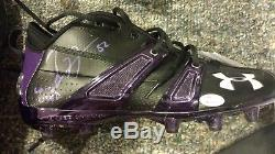 Hall of Fame 2018 Inductee Ray Lewis autographed GAME USED cleats with COA's
