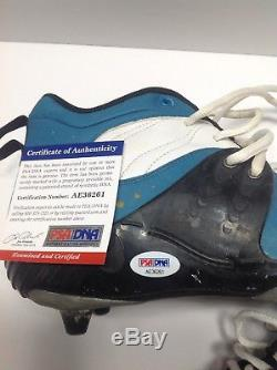 Hardy Nickerson Game Used Jacksonville Jaguars Cleats Signed On Both Psa/dna Coa