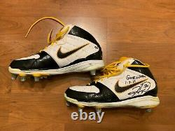 Hines Ward Game Used Worn Cleats Shoes 1-2-11 Pittsburgh Steelers PSA DNA NFL