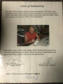 Hines Ward Game Used Worn Cleats Shoes 2006 Super Bowl MVP TSE COA Autographed