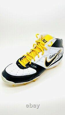 Hines Ward Steelers Signed Game Used Pair of Cleats HINES WARD #86 COA BOTH AUTO