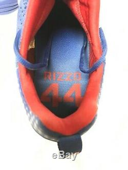 Historic 2016 GAME USED Signed ANTHONY RIZZO CLEATS MLB & Fanatics COA Cubs