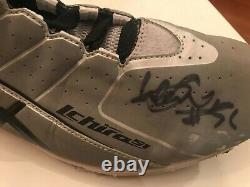 ICHIRO Mariners 2012 Game Used Autographed #51 Asics Turf Shoes ICHIRO COA