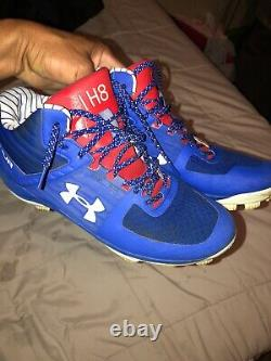 Ian Happ game used under armour yard cleats chicago cubs