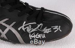 Ichiro Suzuki Game Used Autographed Insc. Cleats 2014 Yankees