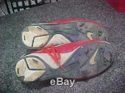 Ivan Pudge Rodriguez Texas Rangers Signed 1999 Game Used Shoes/ Cleats