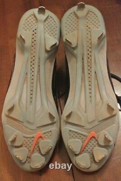 JOSE ALTUVE 2014 PE GAME USED cleats shoes Houston Astros 225 hits. 341 avg