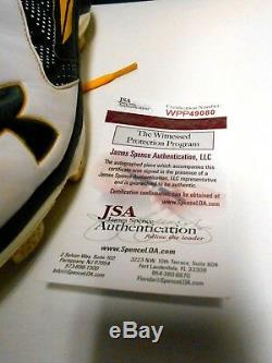 JSA Matt Olson Signed Autographed Game Used Baseball Cleats Shoes Oakland A's