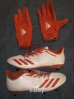 Jabrill Peppers Cleveland Browns Game Used Worn Cleats Gloves 2018-19 Giants