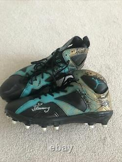 Jalen Ramsey Jaguars Game Used Cleats Custom Jordan Signed Autographed NFL Cert