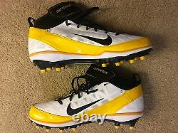 James Farrior Signed Game Un Used Issued PE Nike Cleats Pittsburgh Steelers