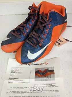 Jared Allen Autographed Game Used Nike Cleats 100% Authentic Chicago Bears HOF