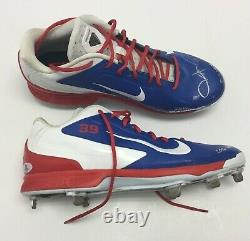 Jason Hammel 2016 Game Used Chicago Cubs Baseball Cleats World Series Signed BAS