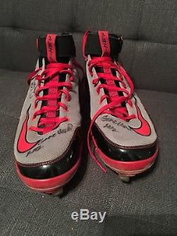 Jason Heyward Signed Game Used Cleats JSA Authenticated