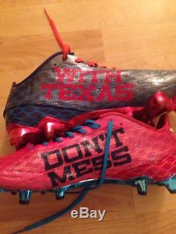 Jay Ajayi Miami Dolphins Game Used Cleats Gloves Don't Mess With Texas Matched