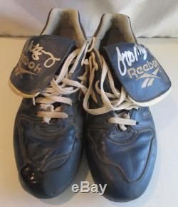 Jeff Montgomery Kansas City Royals Signed Game Used Cleats KC Original Shoes