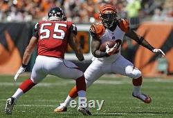 Jeremy Hill Bengals Game Used Game Worn Signed Cleats 1st Career NFL Touchdown