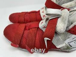 Jerome Baker GAME USED Cleats Lebron Soldier 11 2017 Season Signed PSA/DNA