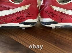 Jim Edmonds Signed St Louis Cardinals Game Used Worn Cleats Rare World Series