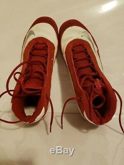 Jimmy Rollins Signed Game Used Phillies Nike Baseball Cleats Rollins LOA &