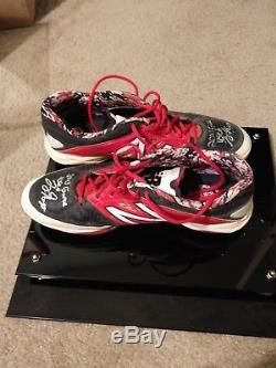 Joey Gallo Autographed Game Used/Game Worn (GU) Cleats JSA Authenticated