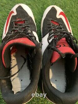 Joey Votto Cincinnati Reds Game Used Cleats 2015 Signed PSA Authenticated